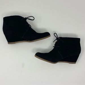 Franco Sarto Suede Wedge Ankle Booties